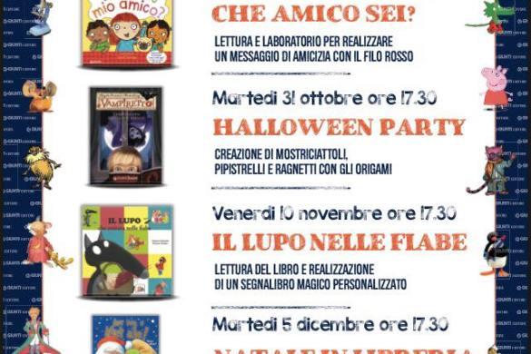 Laboratori autunnali - Libreria Giunti al Punto - Pescara
