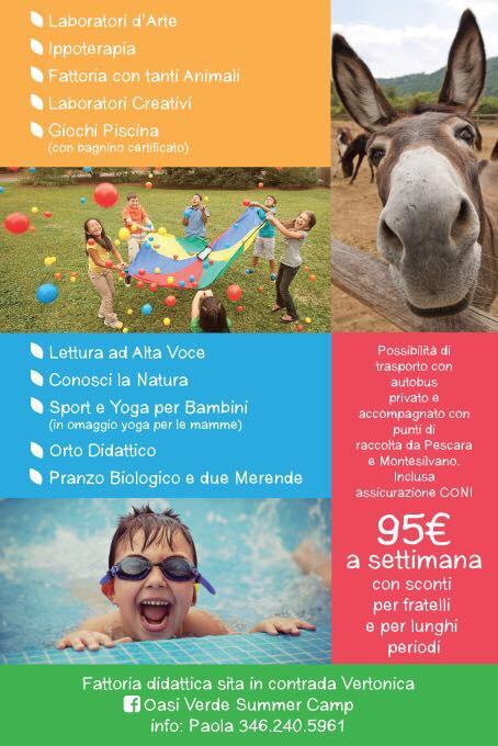 Programma Oasi Verde - Summer Camp - Città Sant'Angelo - Pescara