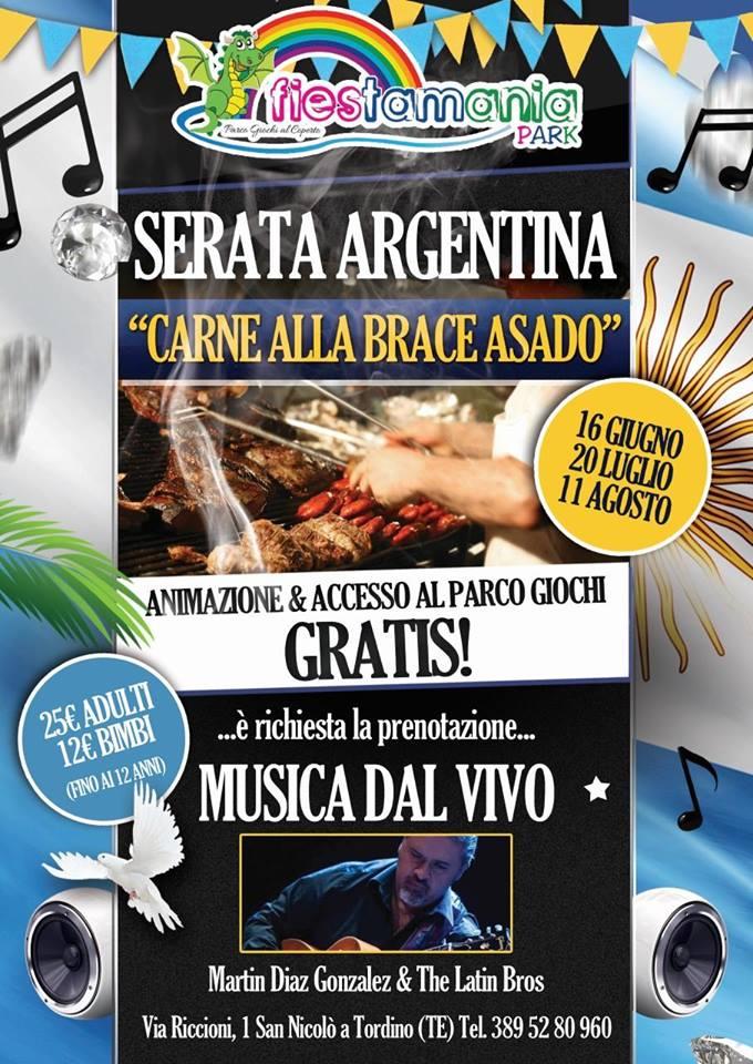 Serata Argentina - Fiestamania Park - Teramo