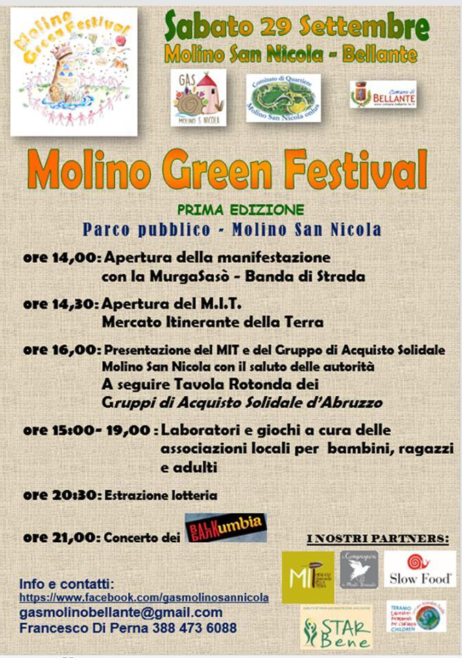Molino Green Festival Bellante (TE) - Eventi per famiglie Teramo