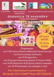 Colori, Saperi, Sapore d'autunno alla Riserva Naturale Castel Cerreto TE