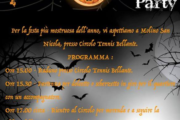 Festa-Halloween-Circolo-tennis-Bellante-TE- Halloween 2018 per bambini in Abruzzo