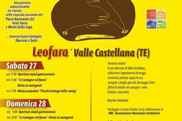 Festa della Castagna- Leofara TE - Feste d'autunno in Abruzzo