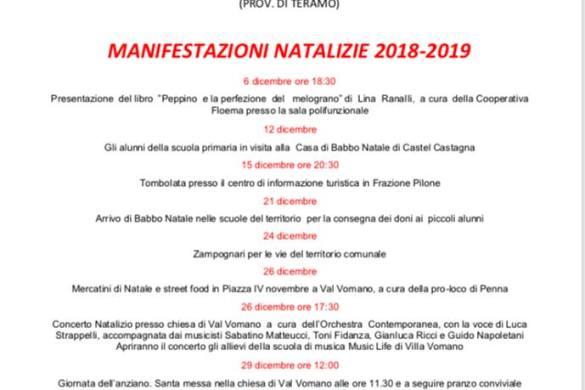 Manifestazioni-Natalizie-2018-Penna-Sant-Andrea-Teramo - Cosa fare a Natale con i bambini in Abruzzo