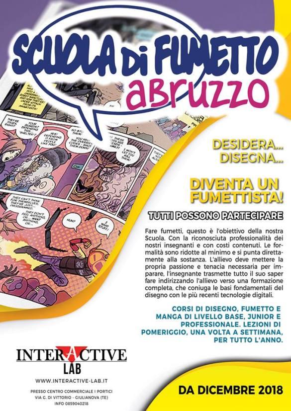 Scuola di fumetto Abruzzo Interactive Lab Giulianova - Teramo