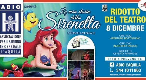 La-vera-storia-della-Sirenetta-Spettacolo-Abio-L'Aquila - Eventi per bambini in Abruzzo weekend 7 - 9 dicembre