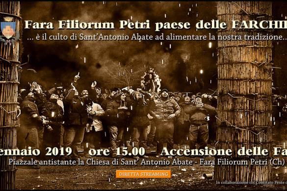 Accensione delle Farchie di Sant'Antonio a Fara Filiorum Petri - Chieti