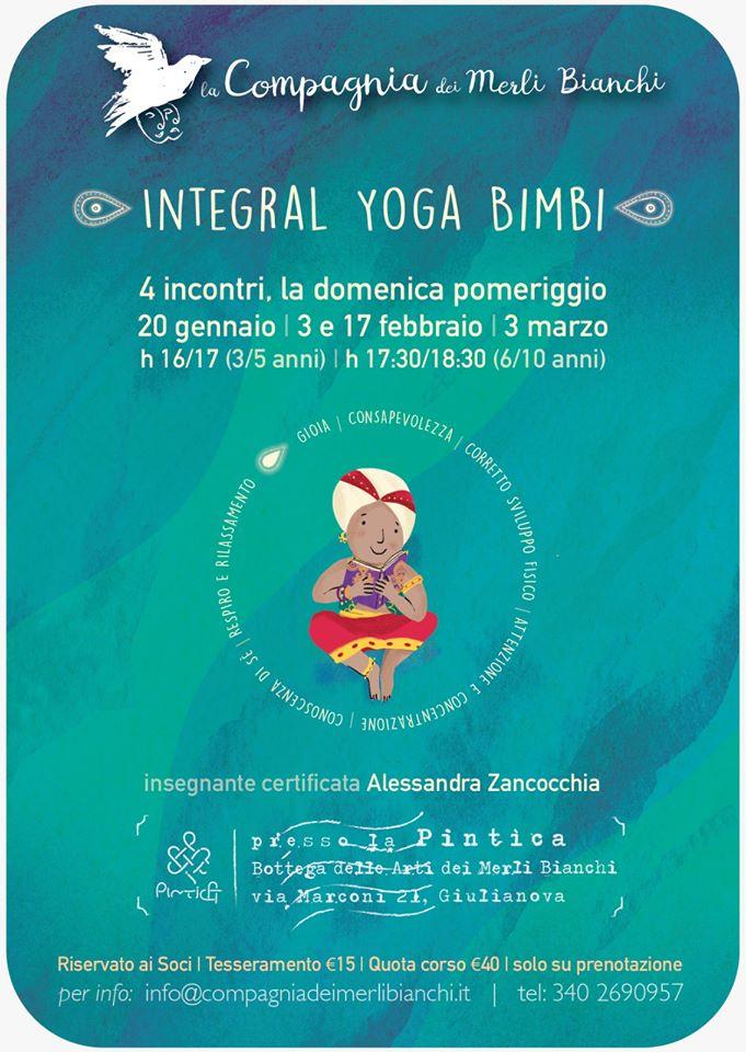 Integral Yoga Bimbi - Compagnia dei Merli Bianchi - Letture, laboratori creativi e yoga per bambini