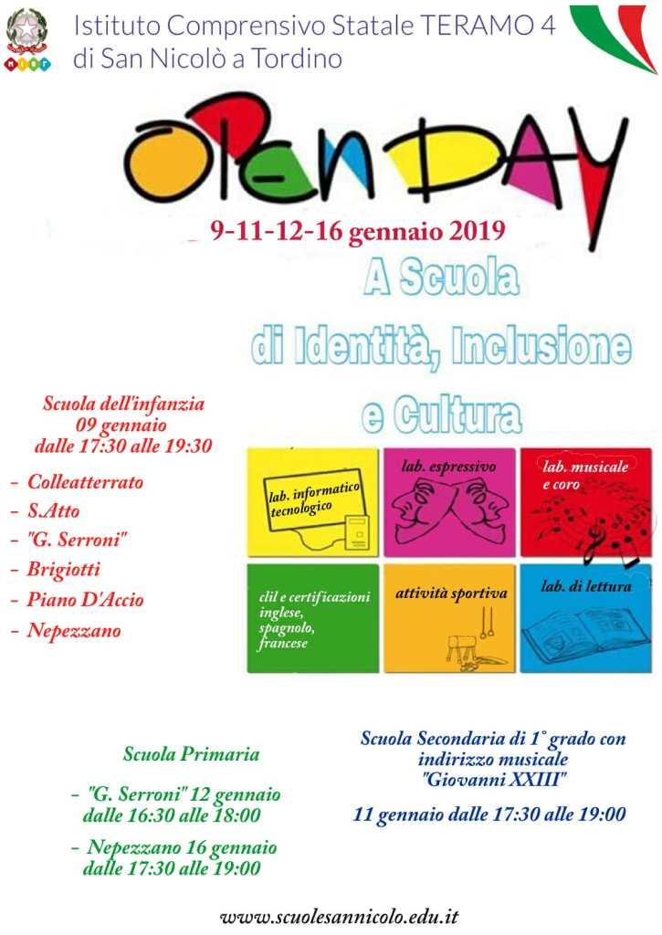 Open day Scuole Teramo - San Nicolò