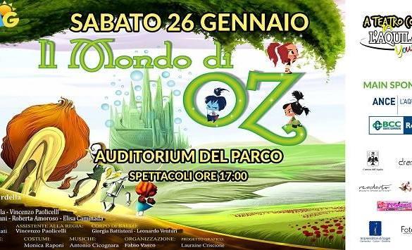 Spettacolo-teatrale-Auditorium- L'Aquila - Eventi per bambini in Abruzzo weekend 25-27 gennaio 2019