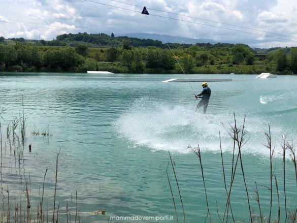 Dimostrazione System 2.0 Lago Hot Lake Cable Park a Manoppello di Pescara