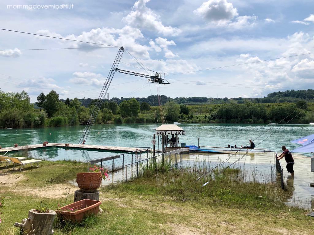 Panoramica Lago Hot Lake Cable Park a Manoppello di Pescara