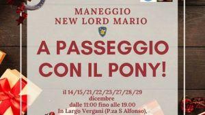 A passeggio con il pony del Maneggio New Lord Mario a Francavilla al Mare