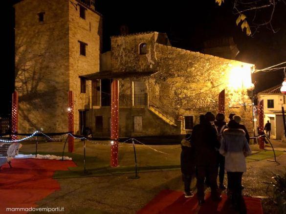 Scorcio di Borgo di Babbo Natale a Ripattoni