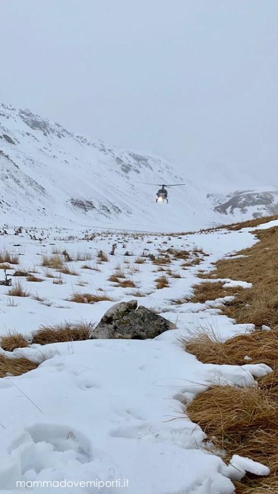 eliciaspolata a roccaraso arrivo dell'elicottero