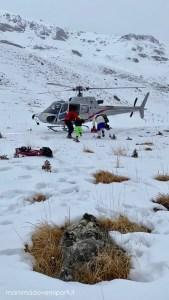 eliciaspolata a roccaraso il primo gruppo sale in elicottero