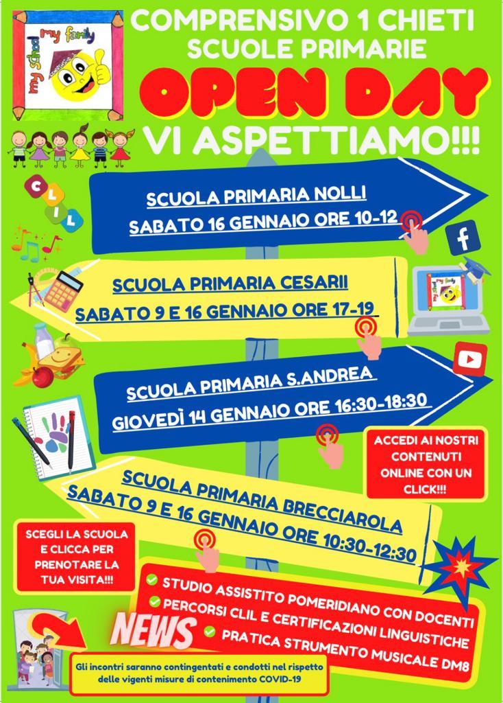 Open Day 2021 Scuole di Chieti Primaria Istituto Comprensivo Chieti 1