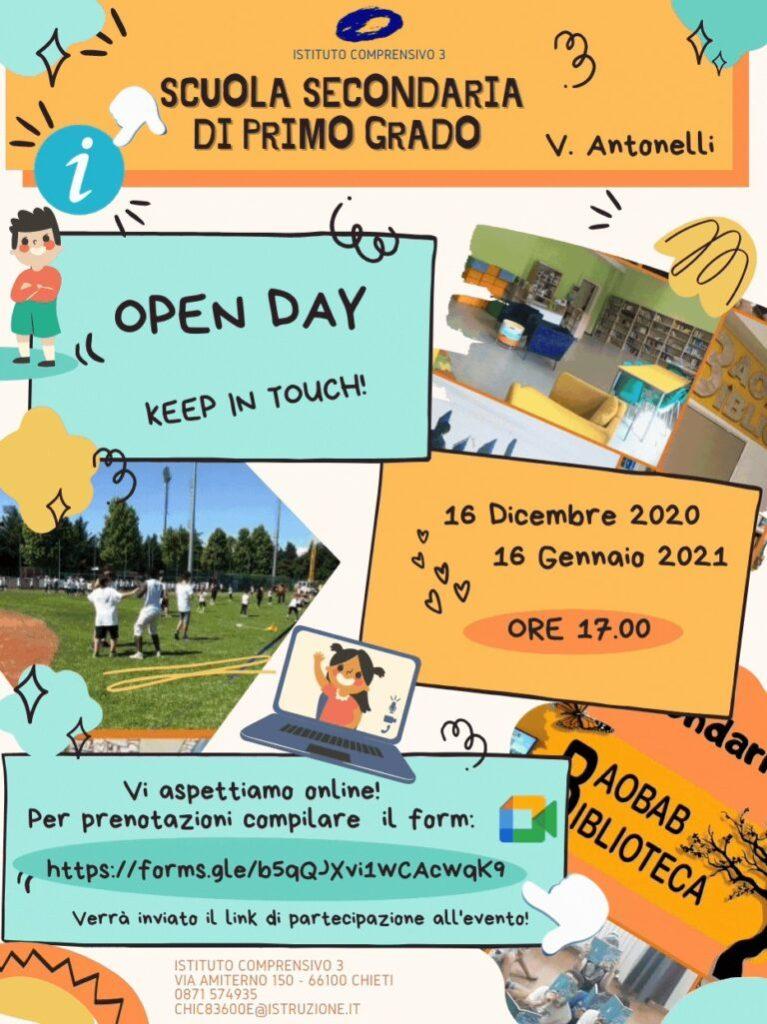 Open Day 2021 Scuole di Chieti Secondaria Istituto Comprensivo Chieti 3 Online