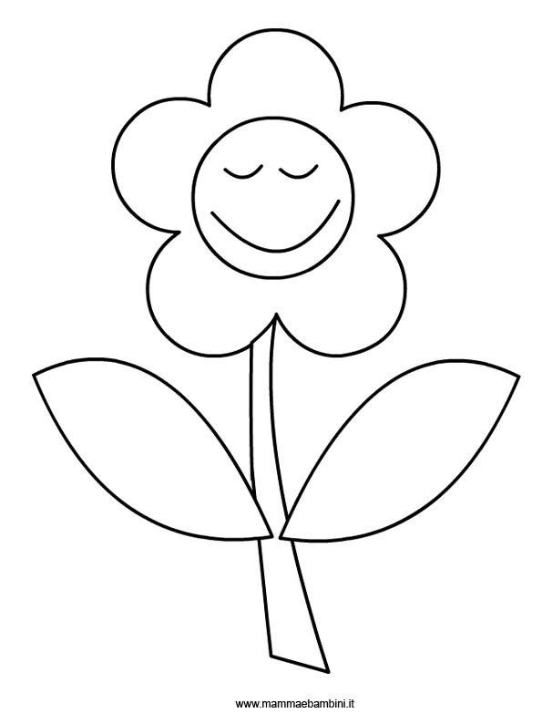 Fiore Disegni Per Bambini : fiore, disegni, bambini, Fiore, Colorare, Mamma, Bambini