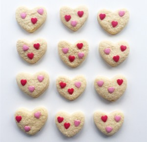 Homemade Heart shaped biscuits