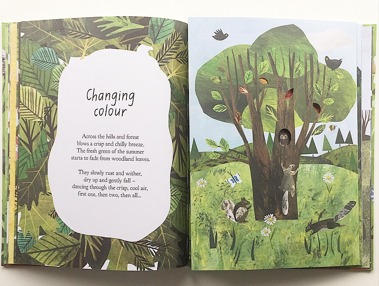 Double page entitled Changing Colour from Book A Walk Through Nature.