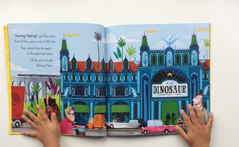 Illustratiuon of Dinosaur Department Store