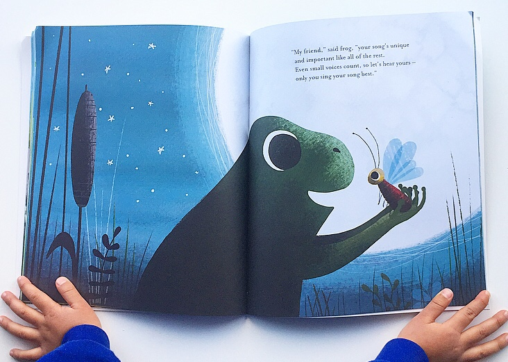 In the swamp by the light of the moon extract showing wonderful shadow illustration.