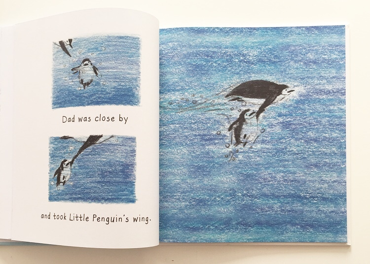 I can Fly by Fifi Kuo extract of dad and penguin.