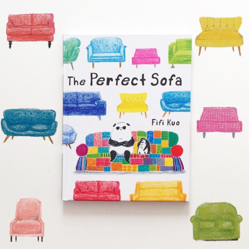Front cover of The Perfect Sofa with artwork MammaFilz.com