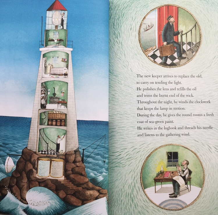 Interiors of lighthouse in Hello Lighthouse.