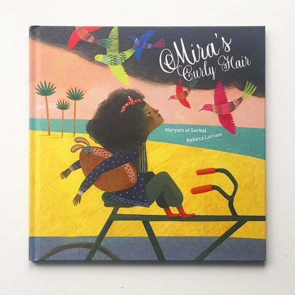 Cover shot of Mira's Curly Hair picture book