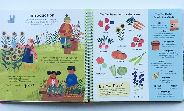 Introduction to gardening for children.