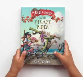 The Jolley Rogers and the pirate piper chapter book review on MammaFilz.com