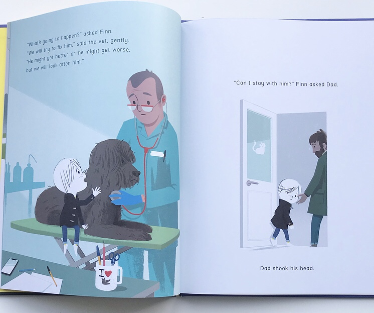 Inside of picture book Hope on MammaFilz.com