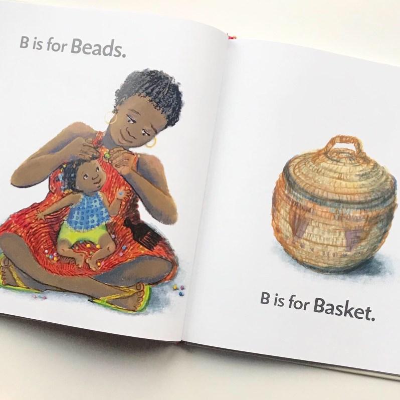 Inside of book B is for baby on MammaFilz.com