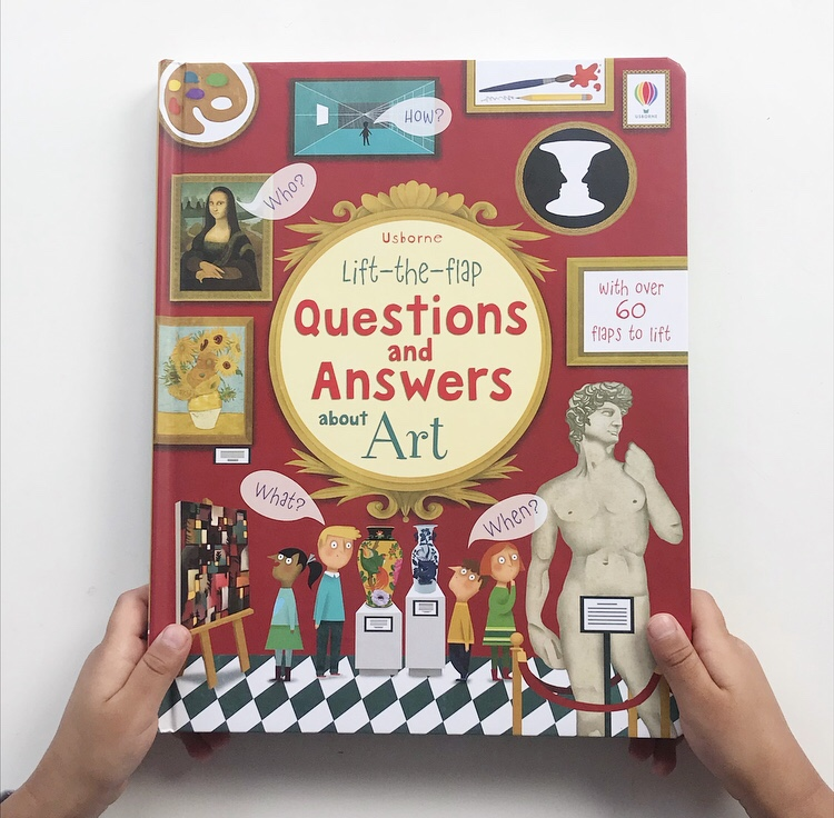 Lift the Flap Questions and Answers about Art book review on mammafilz.com