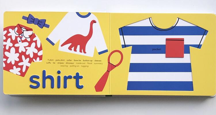 Clothes board book on MammaFilz.com