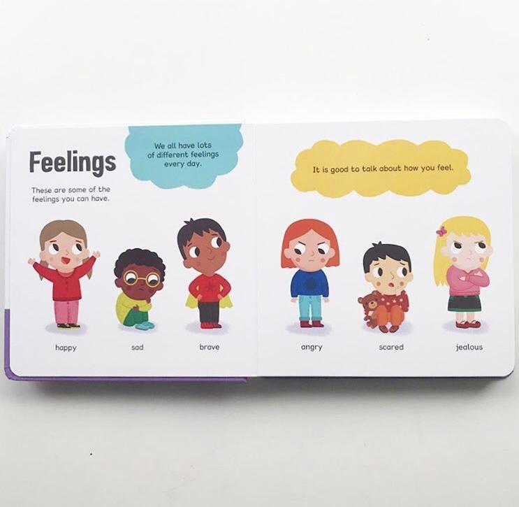 Feelings board book on mammafilz.com