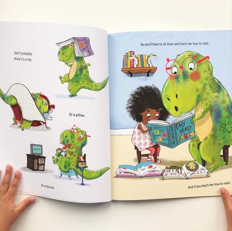 Never show a t-rex a book