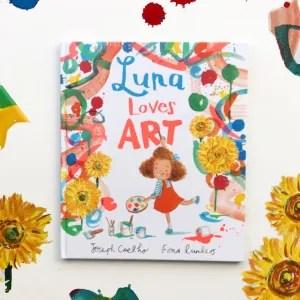 Luna loves art book review on mammafilz.com