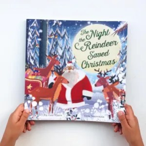 The night the reindeer saved Christmas book review  on mammafilz.com