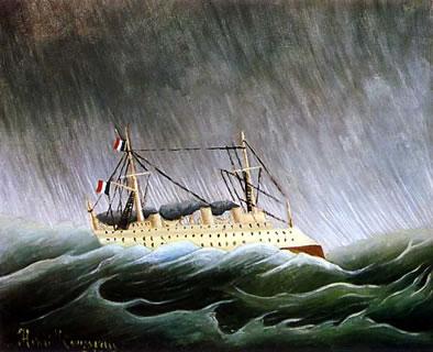 henri_rousseau nave nella tempesta