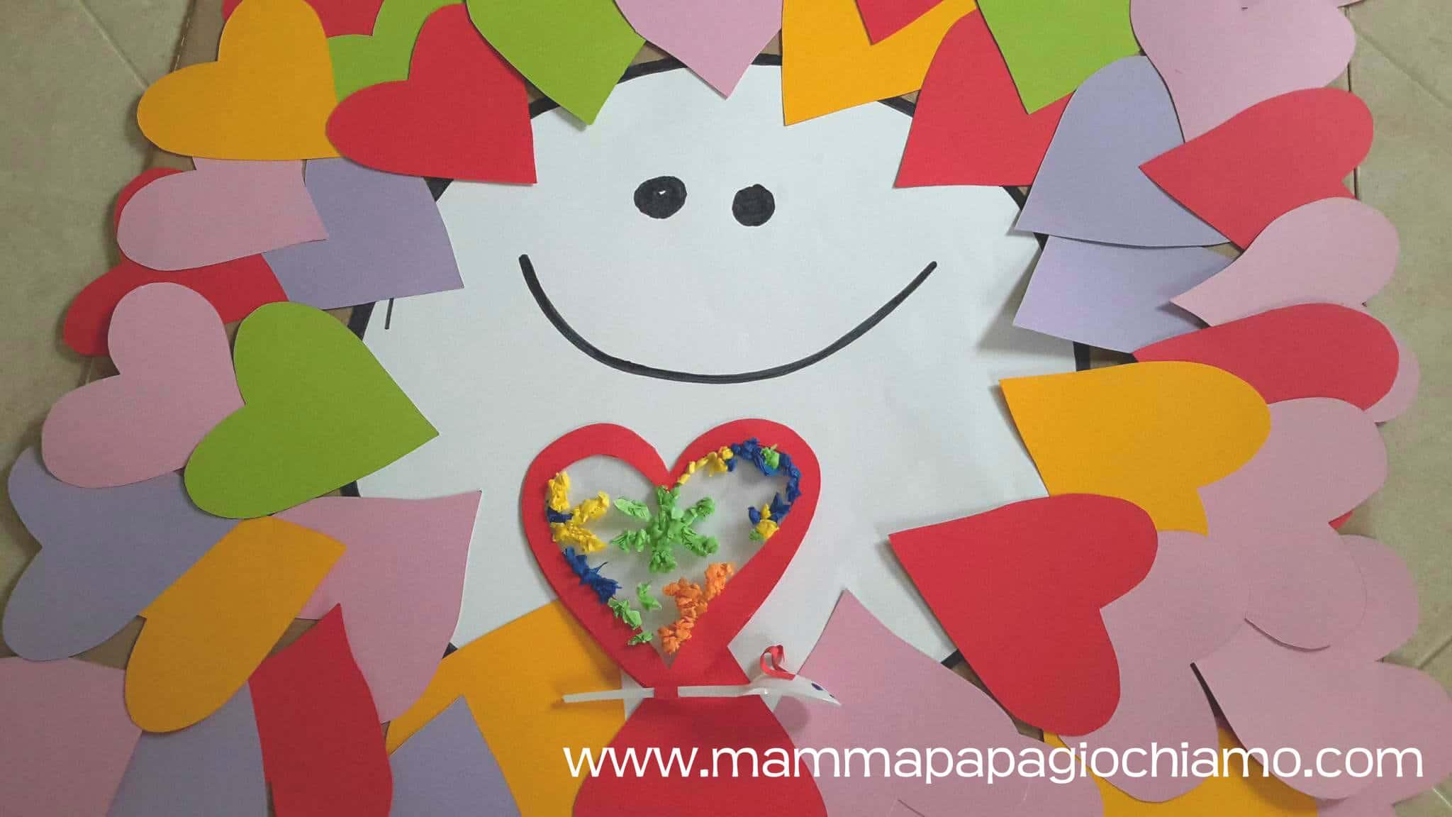 Una farfalla-cuore piena di amore per la Mamma!