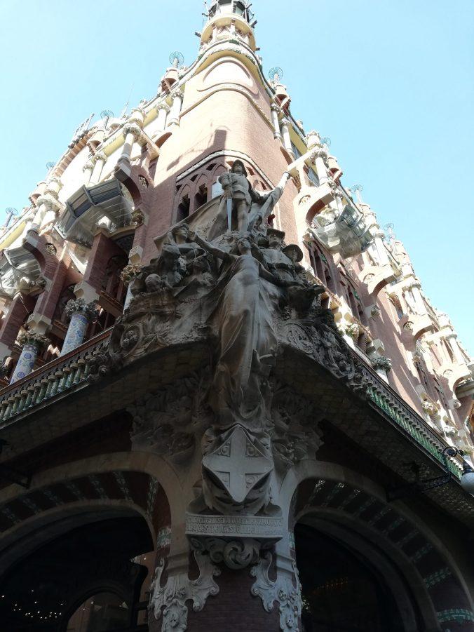 facciata esterna de il palau della musica catalana