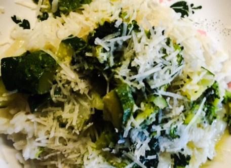 risotto bianco con i broccoli