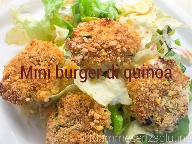 Mini burger di quinoa