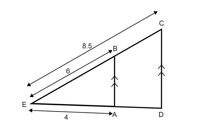 Examples of examination questions using intercept theorem