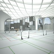 Interior View - The Open Sportscape by Hoofice and Mamou-Mani