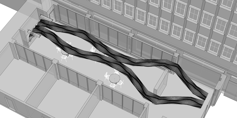 3D model before Optimisation Wooden Waves