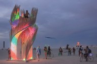 Tangential Dreams at Burning Man 2016 - Night View of LED lights ©Mamou-Mani